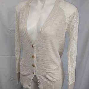 Mossimo Lace Knit Cardigan Sz Medium